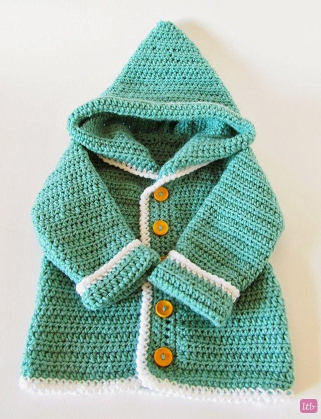 Little Things Blogged: {Crochet Baby Cardigan} free pattern