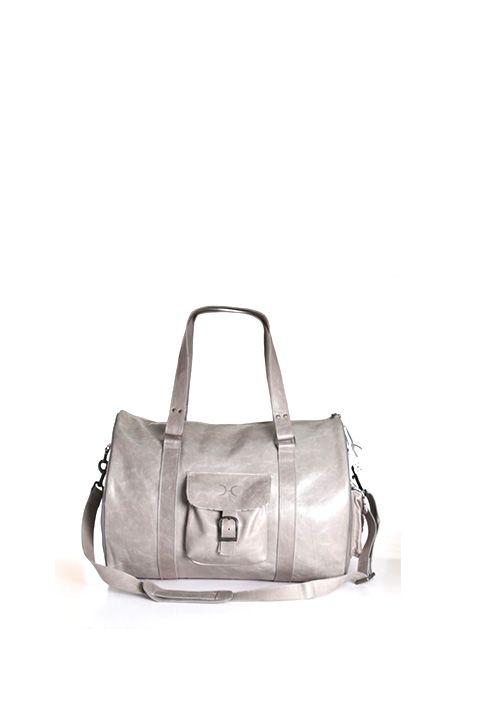 Thandana Leather Mens Cabin Bag | Grey