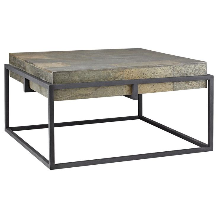 Slate Coffee Table Canada: Slate Coffee Table With Metal