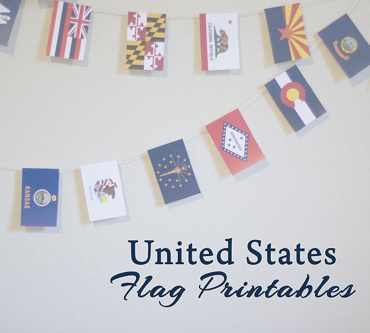 United states flag free printables