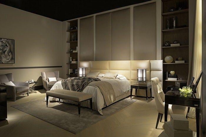 Fendi casa ff casa regent bed and dedalo 2 bed side table for Fendi casa bedroom