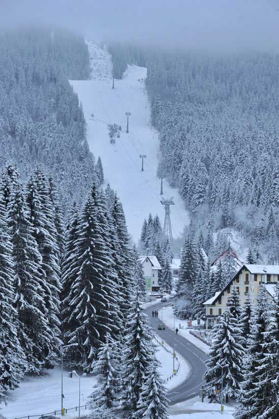 Ski slopes in Poiana Brasov resort, Romania . If you are looking for a ski destination which combines great affordable beginner and intermediate skiing set against a sparkling tree lined backdrop together with good facilities and bags of culture, then a ski holiday in Romania should really be at the top of your list.www.romaniasfriends.com