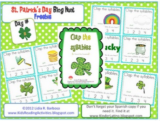 Clap the syllables freebie    -  Pinned by @PediaStaff – Please Visit http://ht.ly/63sNt for all our pediatric therapy pins: Kinder Alphabet, Daily Alphabet, Alphabet Welcome, St. Patrick'S Day, Blog Hunt'S, Syllable Freebies, St Patrick'S Day, Blog Hoppin', Blog Awards