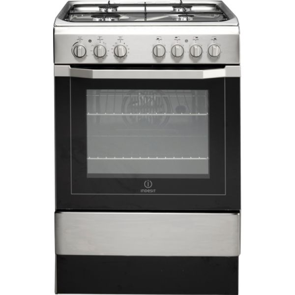 60cm Gas/Electric Freestanding Cooker by Indesit (I6G52X) $1120 BBONLINE 2.4KW