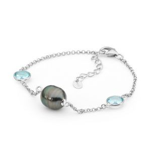 Tahitian Pearl & Blue Topaz Bracelet - Shop our jewellery store in Port Fairy - Victoria, Australia.