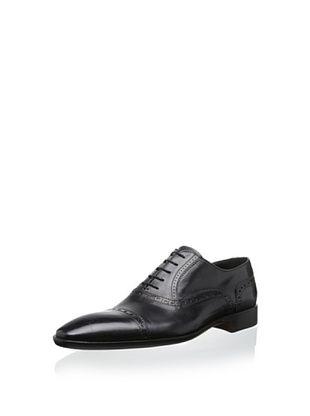50% OFF Dino Bigioni Men's Dress Cap Toe Lace-Up (Black)