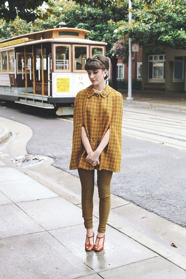 Finch Fawn Poncho CoatPoncho OutfitYellow StyleFall Outfit IdeasFall