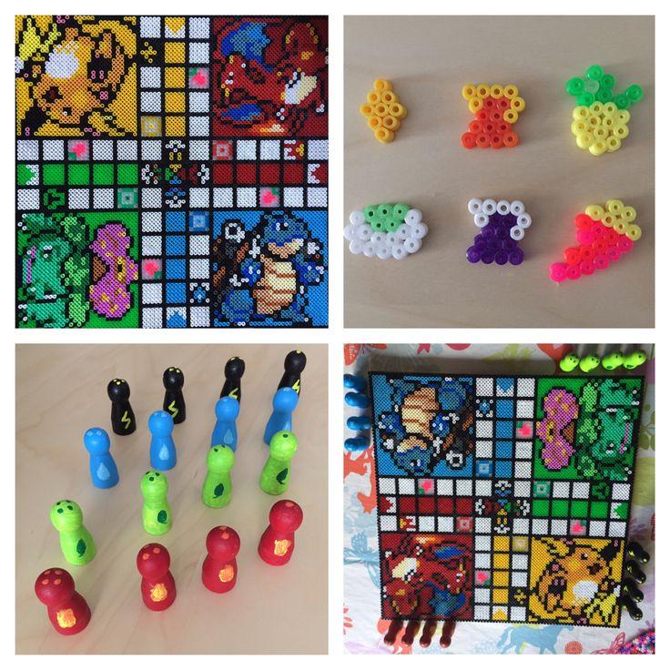 Poke Ludo. Board, tokens, and bricks.
