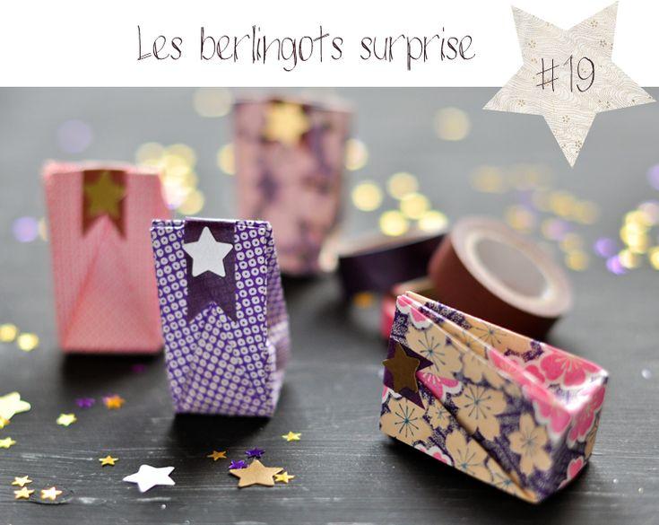 Petits berlingots en origami