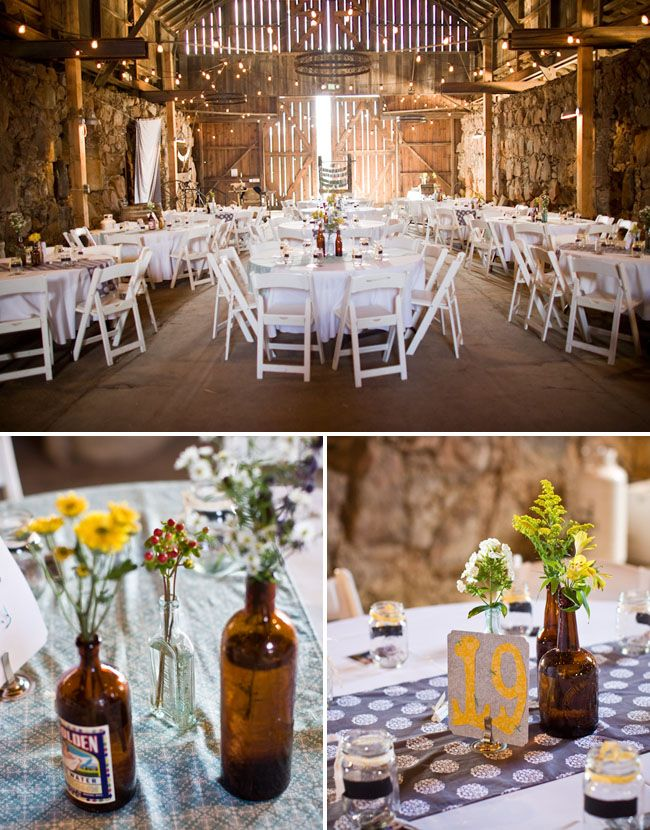 We're doing our wedding and reception in a barn. I love how this looks!!