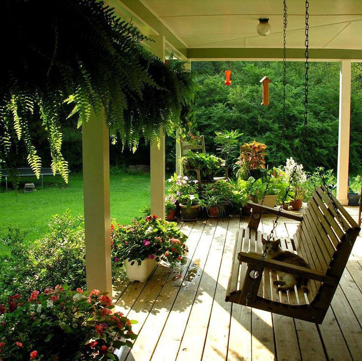 Under Deck Porch With Swing