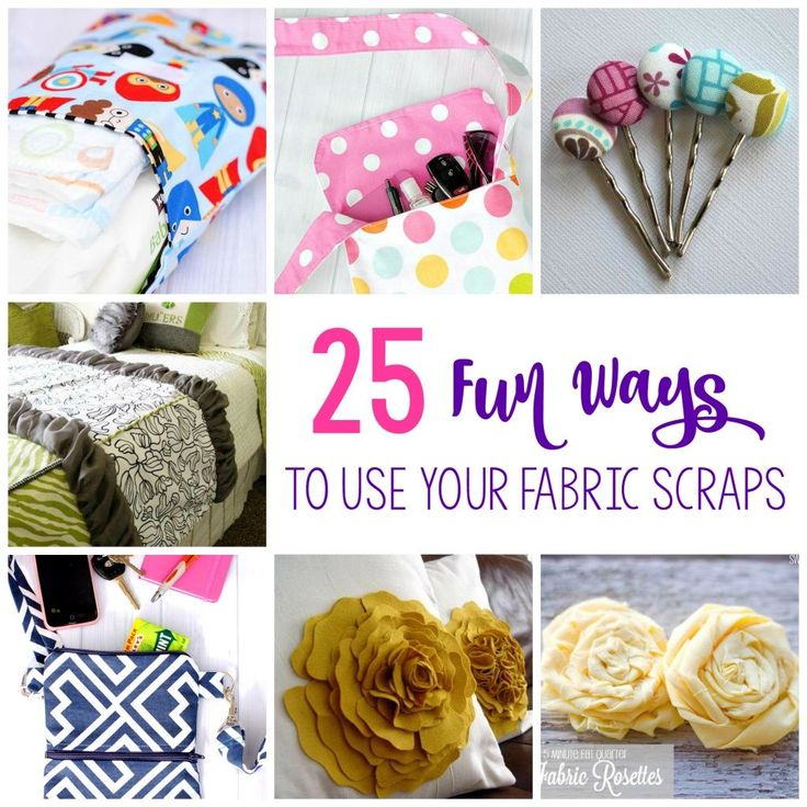 Do you have a pile of fabric scraps sitting in your house somewhere and you aren't quite sure what to do with it? I have a whole bin of them in all sizes. My post about 25 Things to Do with F…