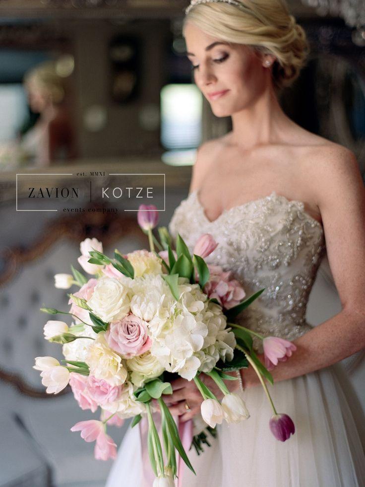Brides Bouquet, tulips, roses, soft pink bouquet.