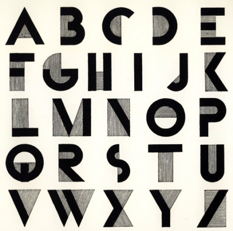 Typography Alphabet :: Bifur Font - Adolphe Mouron Cassandre, 1929