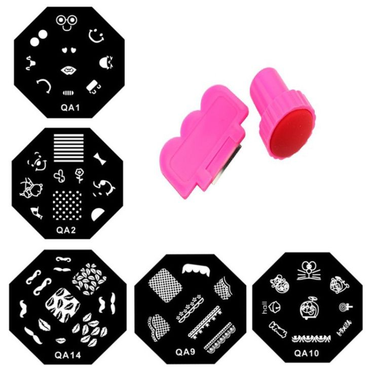 1 Set New Design Nail Stamping Plates Nail Art Image  Stamper and Scraper Konad/Stamp Plates Manicure Template Series Nail Tool