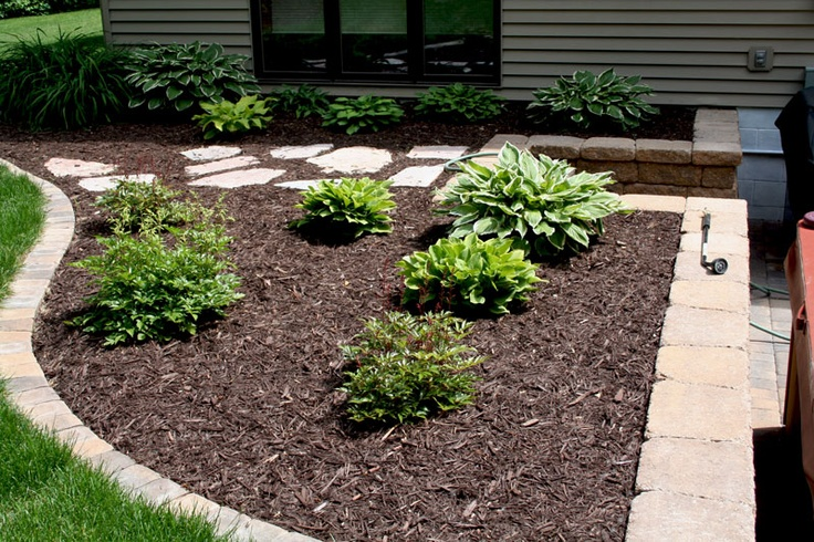 Low profile flower bed border landscape and gardening for Low growing plants for flower beds