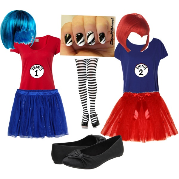Thing 1 and Thing 2 Halloween costumes\ - halloween costumes for girls ideas