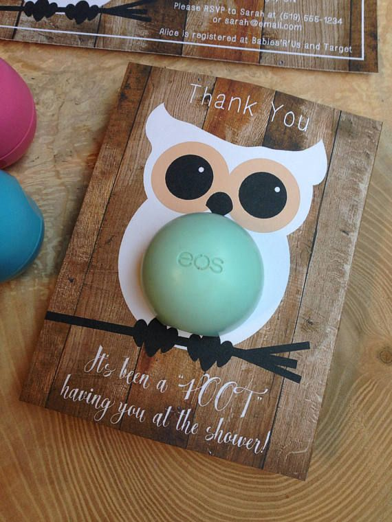 Rustic Owl Themed Baby Shower Eos Lip Balm Party Favor Honey