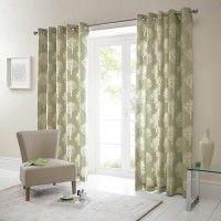 Buy Woodland Trees Green Eyelet Curtains Online | Home Focus at Hickeys
