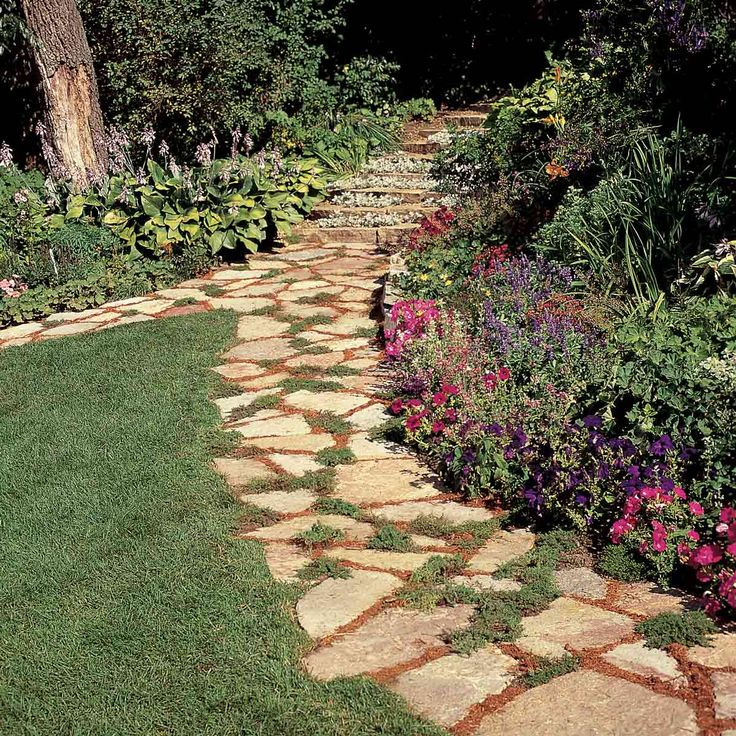 Stone Paths In Gardens: 678 Best Life Began In A Garden Images On Pinterest