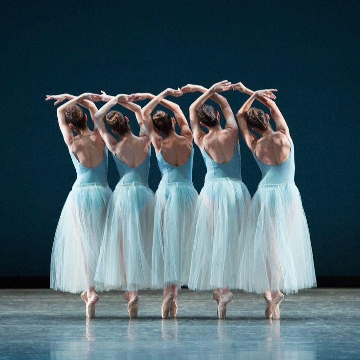 Miami City Ballet dancers in Balanchine's Serenade - Photo © Alexander Iziliaev