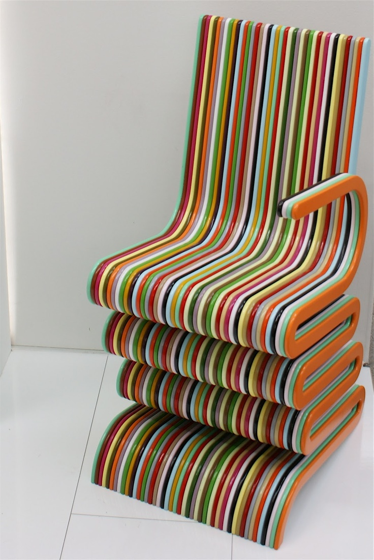 Interesting Candy Striped Chair. Unusual FurnitureFunky ...