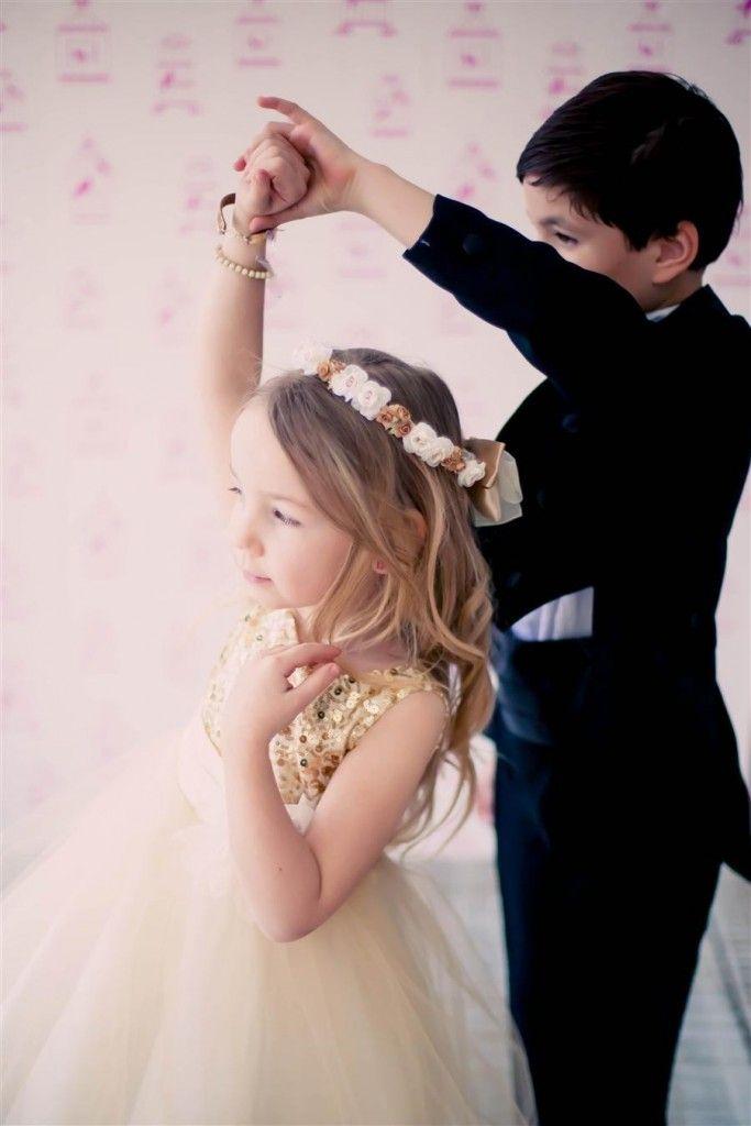 Brudepikekjole i champagnefarge