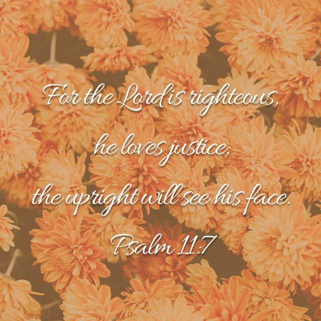 Psalm 11:7