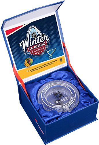 2017 NHL Winter Classic Chicago Blackhawks vs St Louis Blues Crystal Puck  Filled With Ice From The 2017 Winter Classic  Fanatics Authentic Certified *** To view further for this item, visit the image link.