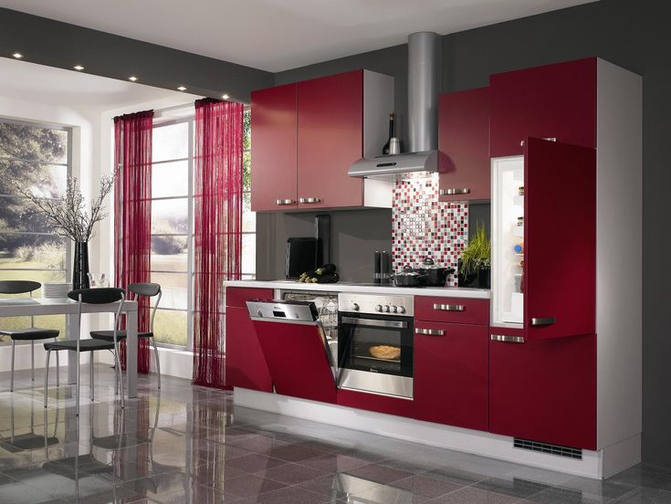 Elegant Kitchen Designs Expressing Full Of Passion Modern Red Kitchen Idea Part 29