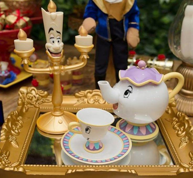 Decoração de Festa tema A Bela e a Fera...The Beauty and the Beast Ideas Birthday Party