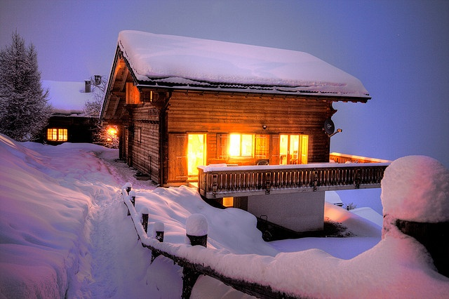 This is what we stayed in over Christmas 2013 - Chalet, La Tania, The French Alps
