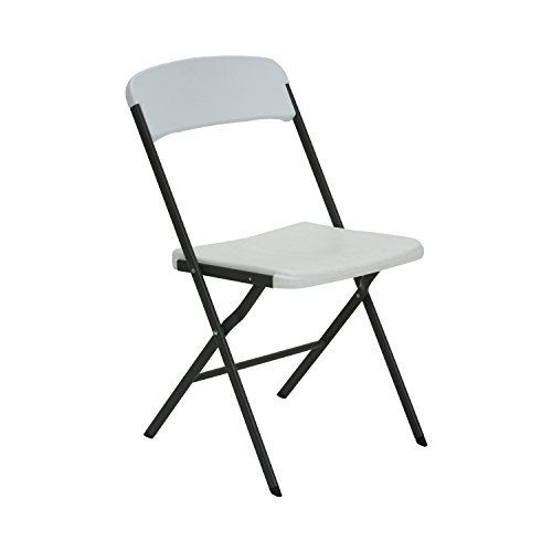 Lifetime contemporary folding chairs feature high-impact polyethylene blow-molded seat and back (white granite), contoured for comfort, and designed for durability. The powder-coated tubing increases strength and stability with a steel folding frame (gray). Lifetime folding chairs are... more details available at https://furniture.bestselleroutlets.com/game-recreation-room-furniture/folding-tables-chairs/product-review-for-lifetime-684016-contemporary-residential-folding-chai