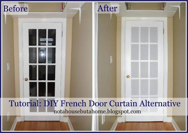 Not A House But A Home Tutorial DIY French Door Curtain Alternative Create & 52 best curtain ideas for glass door images on Pinterest | Window ...