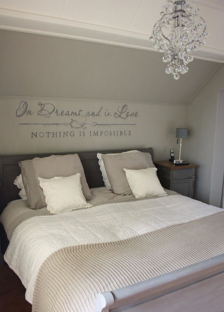 In dreams and in love, nothing is impossible, idee voor de slaapkamer achterwand