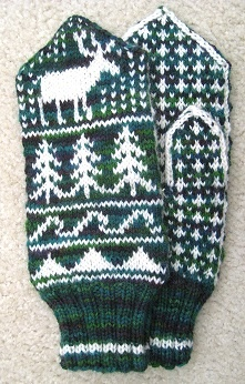 Elk mittens for Mountain Colors Yarns.