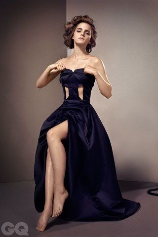 Woman Of The Year: Emma Watson - GQ.COM (UK) Dress by Hugo Boss.