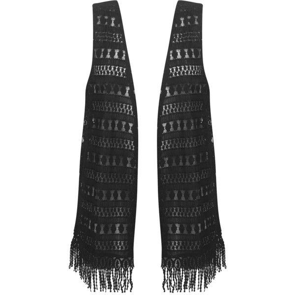 Black Fringed Vest ($36) ❤ liked on Polyvore featuring outerwear, vests, jackets, sweaters, fringe vest, plus size fringe vest, vest waistcoat, womens plus size vests and plus size vest