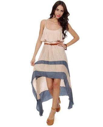 high low: Summer Dresses, High Low Dresses, Fashion Dresses, Merrily Rolling, Trendy Dresses, Style, Beige Dresses, Beige Dress This