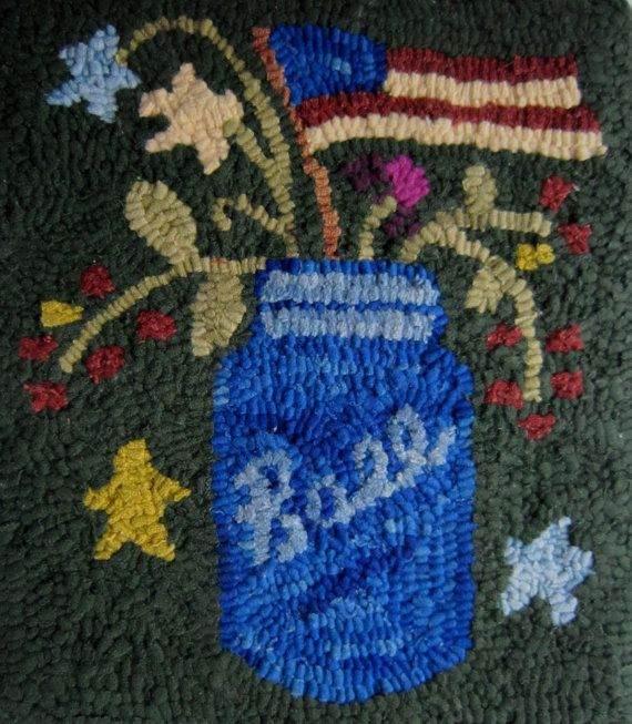 Beautiful Inventory Reduction Sale PRIMITIVE HOOKED RUG By Carolinasquirrell, $51.00