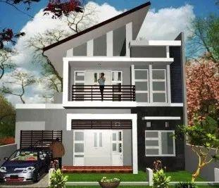 desain rumah 2 lantai lengkap dengan ukurannya | rumah