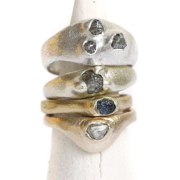 The last few (very long) days of preparation for #madelondon starting this Thursday . Modern ancients sculptural rings in sterling silver rough diamonds and yellow gold. . One Marylebone London 19-22 October stand 20 . #modernancients #wearablesculpture #sculpturaljewels #silversculptures #tamaragomezjewellery #rawluxury #roughluxe #roughdiamonds #rawdiamonds #naturaldiamonds #goldsmith #spiritinspired #finejewelry #jewelrylover #jewelleryaddict #madelondon #makersmovement #craftanddesign…