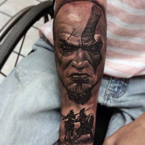 21 best god of war tattoo ideas images on pinterest tattoo ink war tattoo and 3d tattoos. Black Bedroom Furniture Sets. Home Design Ideas