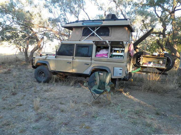 LandRover Defender, Australian 110 with pop top conversion. A lot of great ideas incorporated in this build. Built to get a family of 4 to the best parts of Australia