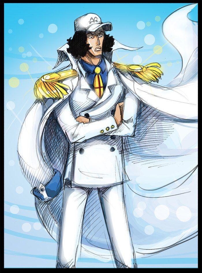 One Piece Admiral Aokiji - Fine Wallpaper Art