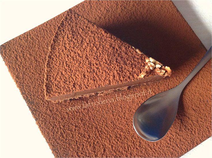 Torta Brownie con Budino al Cioccolato e rum