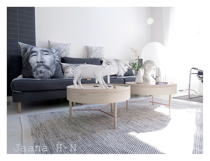 https://www.flickr.com/photos/jaanahn/18511388618/ | Turning Table from Menu |  This table is designed by a young German designer Theresa Arns, 2015.  The Harry Allen pig for Areaware (Bank In the form of a Pig). By Nord Inuit cushion.