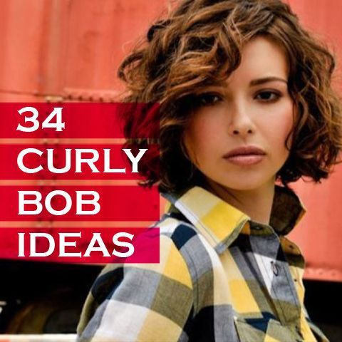 34 Curly Bob Hairstyle Ideas