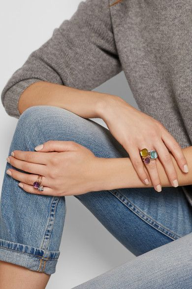 Faceted gemstone rings from Milanese label Pomellato