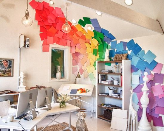 Paint Chip Wall Hanging by Extreme Makeover: Home Design via houzz #Paint_Chip #Phillips_Collection